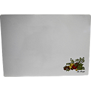 Corning Spice of Life White Counter Saver 10 x 14 Cutting Board Trivet