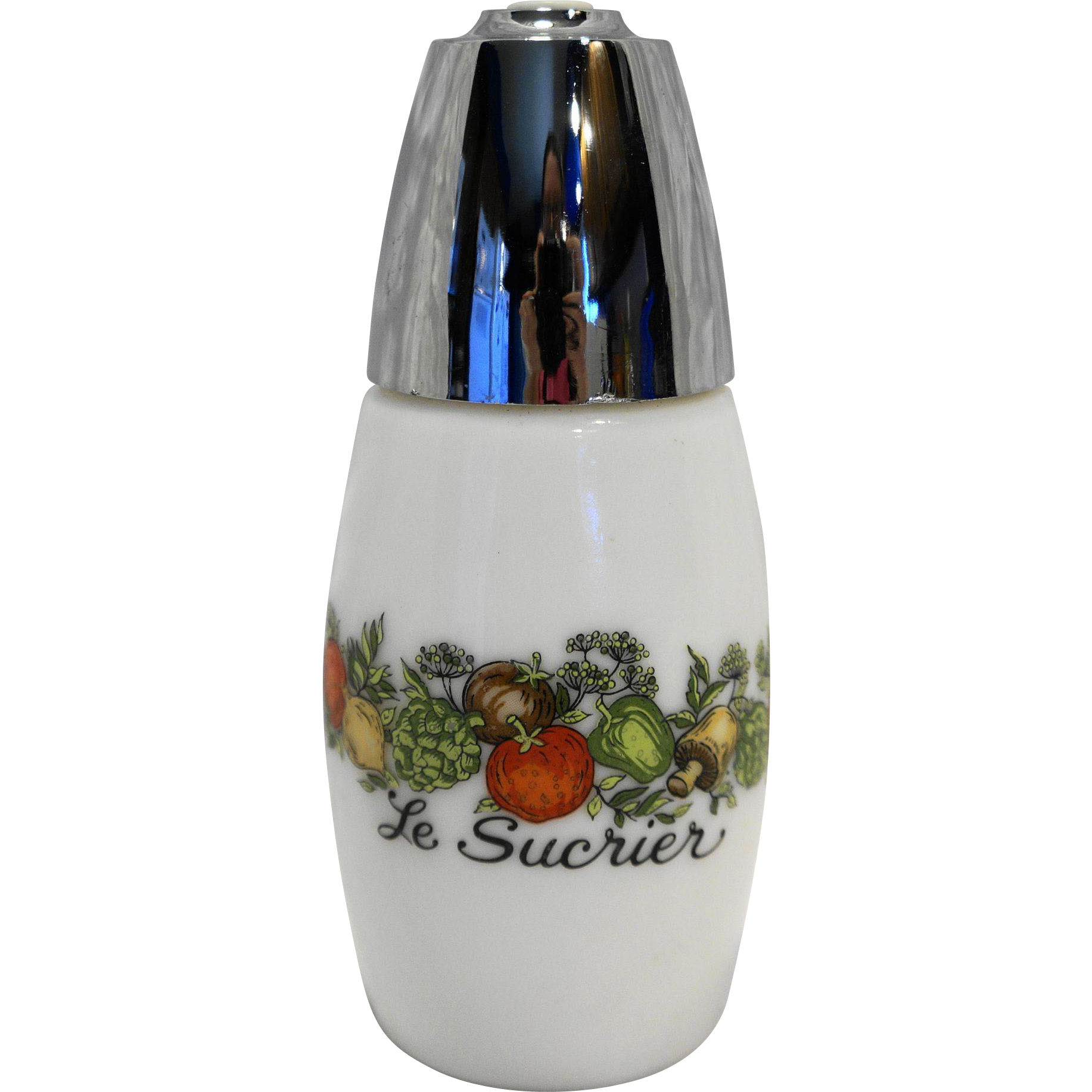 Gemco Spice of Life Sugar Shaker Milk Glass