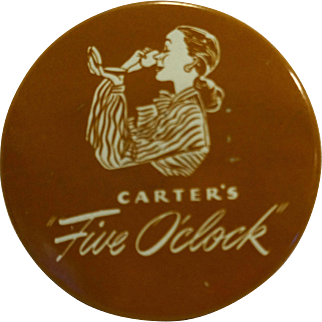 Carters Five O'clock Typewriter Ribbon Tin Royal Portable Black Record Medium