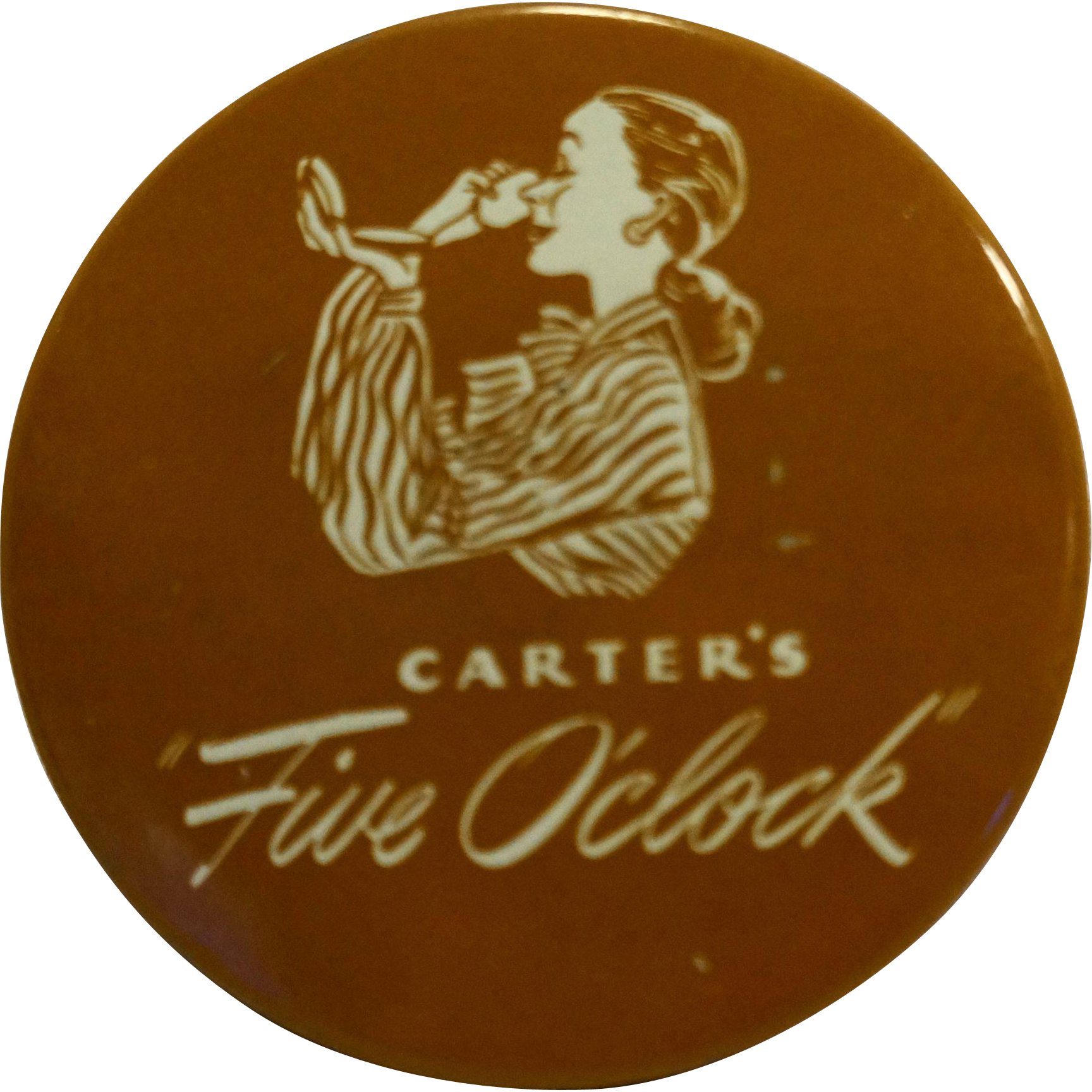 Carters Five O'clock Typewriter Ribbon Tin Royal Portable Black Record Medium