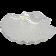 Avon Clam Sea Shell Iridescent White Glass Soap Dish
