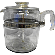 Pyrex Flameware Coffee Pot 6-9 Cup Complete Vintage 7759