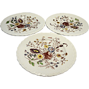 Vernon Kilns Chintz Bread Plates Set of Three Metlox Poppytrail