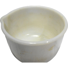 Sunbeam Glasbake Mixmaster White Milk Glass Small Mixing Bowl