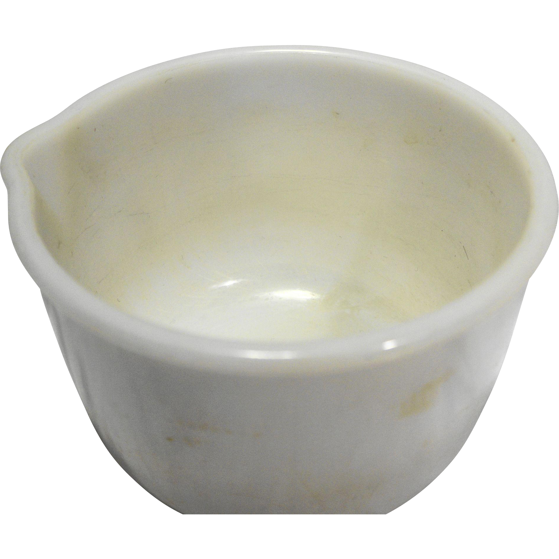 Sunbeam Glasbake Mixmaster White Milk Glass Small Mixing Bowl