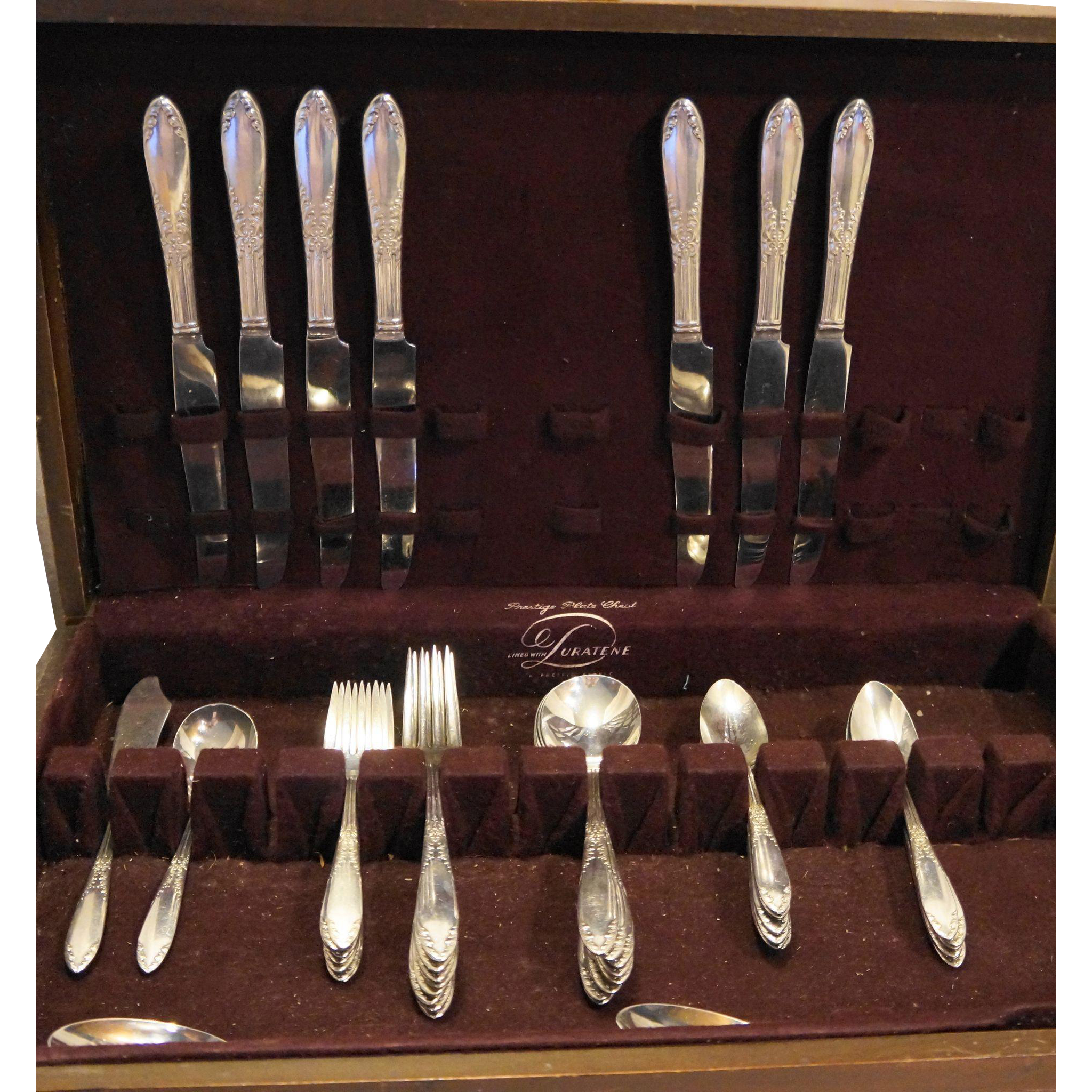 King Edward National Silver Co 48 Pieces Silverplate Set