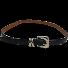 Jana Navy Blue Narrow Leather Ladies Belt L