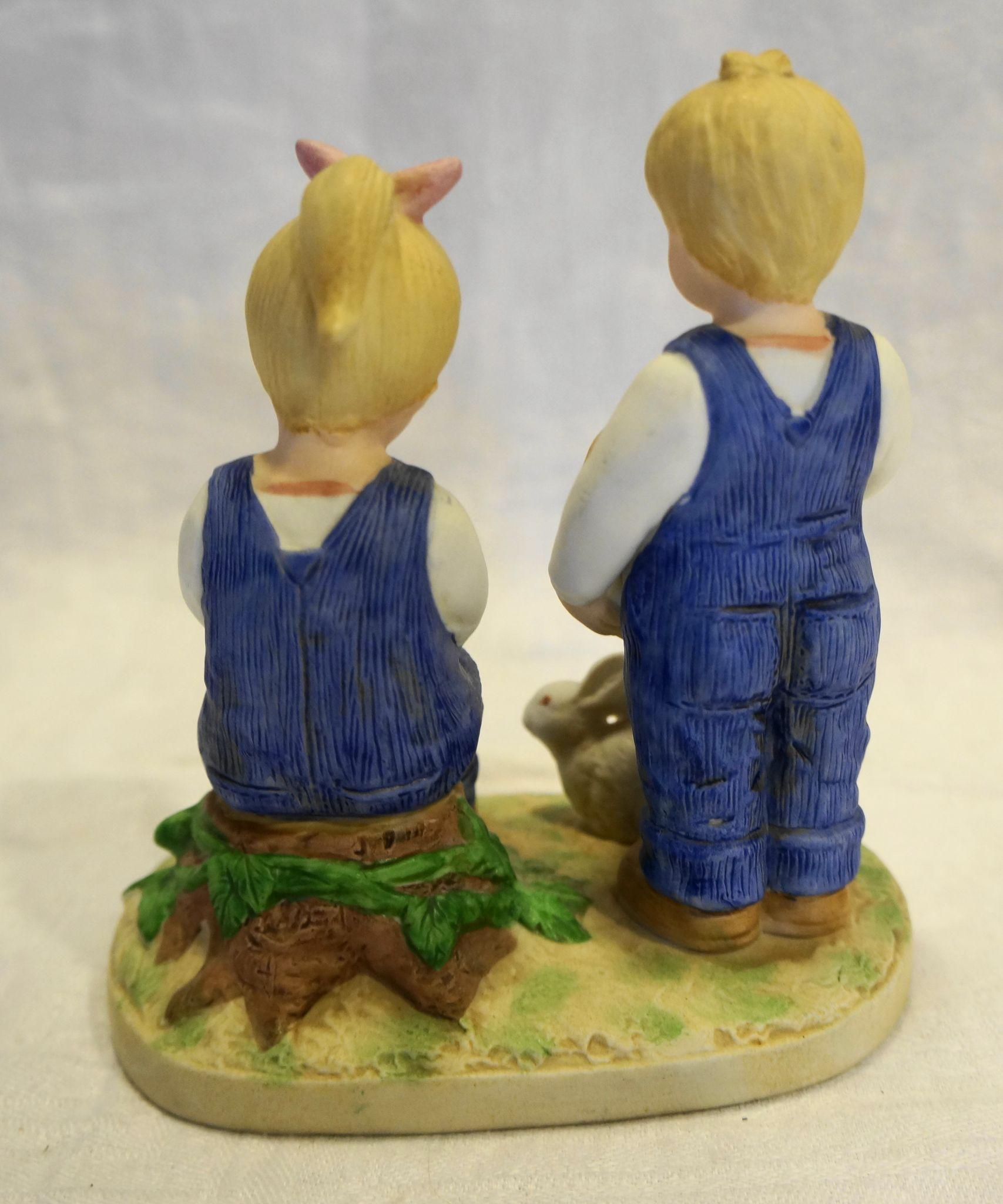 Denim Days Jesus Loves Us 8867 Figurine Homco Made In