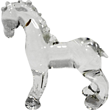 Clear Glass Horse Figurine Small