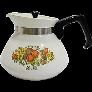 Corning Corningware Spice of Life 6 Cup Teapot P-104