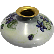Forget Me Not Knot Hand Painted Bavaria Germany Short Vase Porcelain