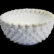 Fenton Hobnail White Milk Glass Cereal Bowl 5 IN 3719