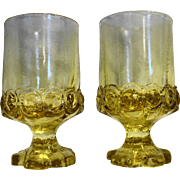 Tiffin Franciscan Madeira Cornsilk Yellow Citron Juice Wine Tumblers Pair