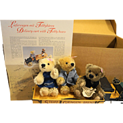 Steiff Delivery Cart With Teddy Bears EAN 038914 Ltd Ed 9/1200 MIB New Rare 2003