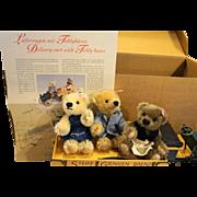 Steiff Delivery Cart With Teddy Bears EAN 038914 Ltd Ed 9/1200 MIB New Rare 2003