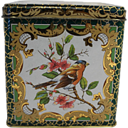 Daher Songbirds Tin Square Box Made in England