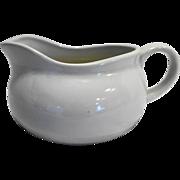 White Stoneware Gravy Sauce Boat PIC