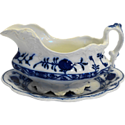 Johnson Bros Holland Flow Blue Gravy Boat Underplate
