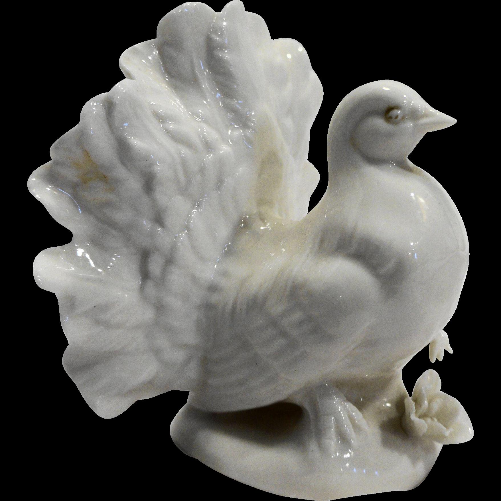 Lenwile Ardalt Japan Verithin White Porcelain Fine China Turkey Figurine