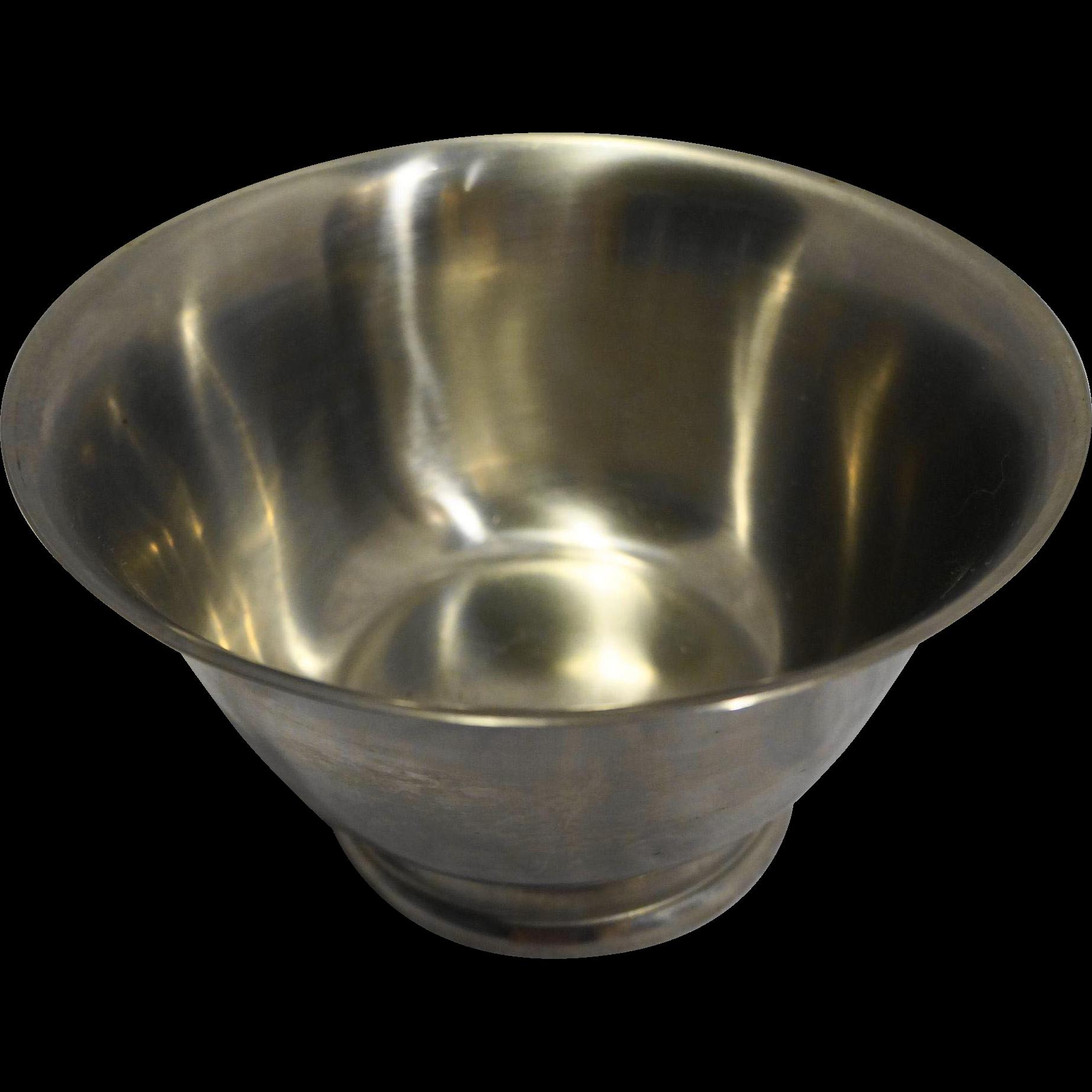 Danish Modern MCM Eames Era Selandia Stainless Steel Small Serving Bowl