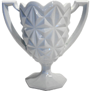 Indiana Glass Monticello Loving Cup Chalice Vase 7 IN White Milk Glass