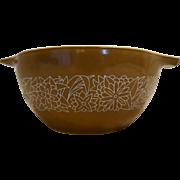 Pyrex 441 1 1/2 Pint Woodland Brown Cinderella Handle Mixing Bowl Small