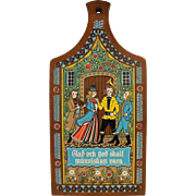 Berggren Trayner Swedish Folk Art Style Cutting Board Glad Och God Skall Människan Vara