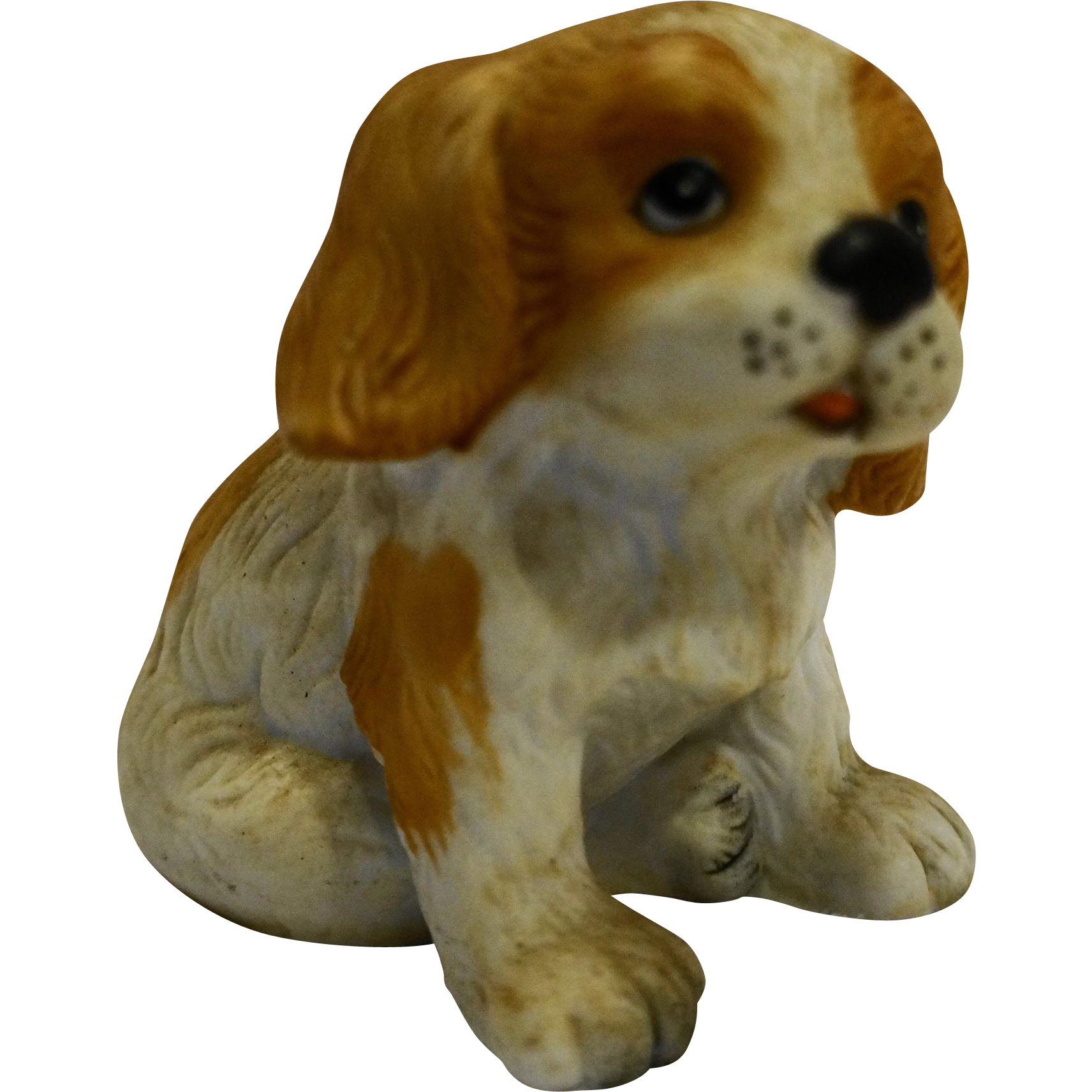 Homco Porcelain Spaniel Dog Hand Painted Figurine Small