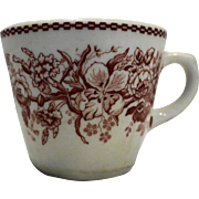 Shenango Red Floral Restaurant Ware Cup Mug
