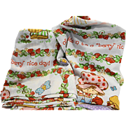 Strawberry Shortcake Friends Twin Sheet Set Vintage JC Penney
