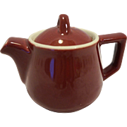 Hall Maroon Individual Restaurant Ware Teapot Small 1 Cup