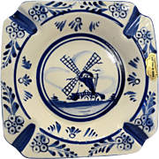 Delft Windmill Ashtray Made in Holland