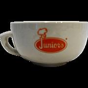 Junior's Restaurant Ware Soup Mug Bowl Orange Logo Buffalo China