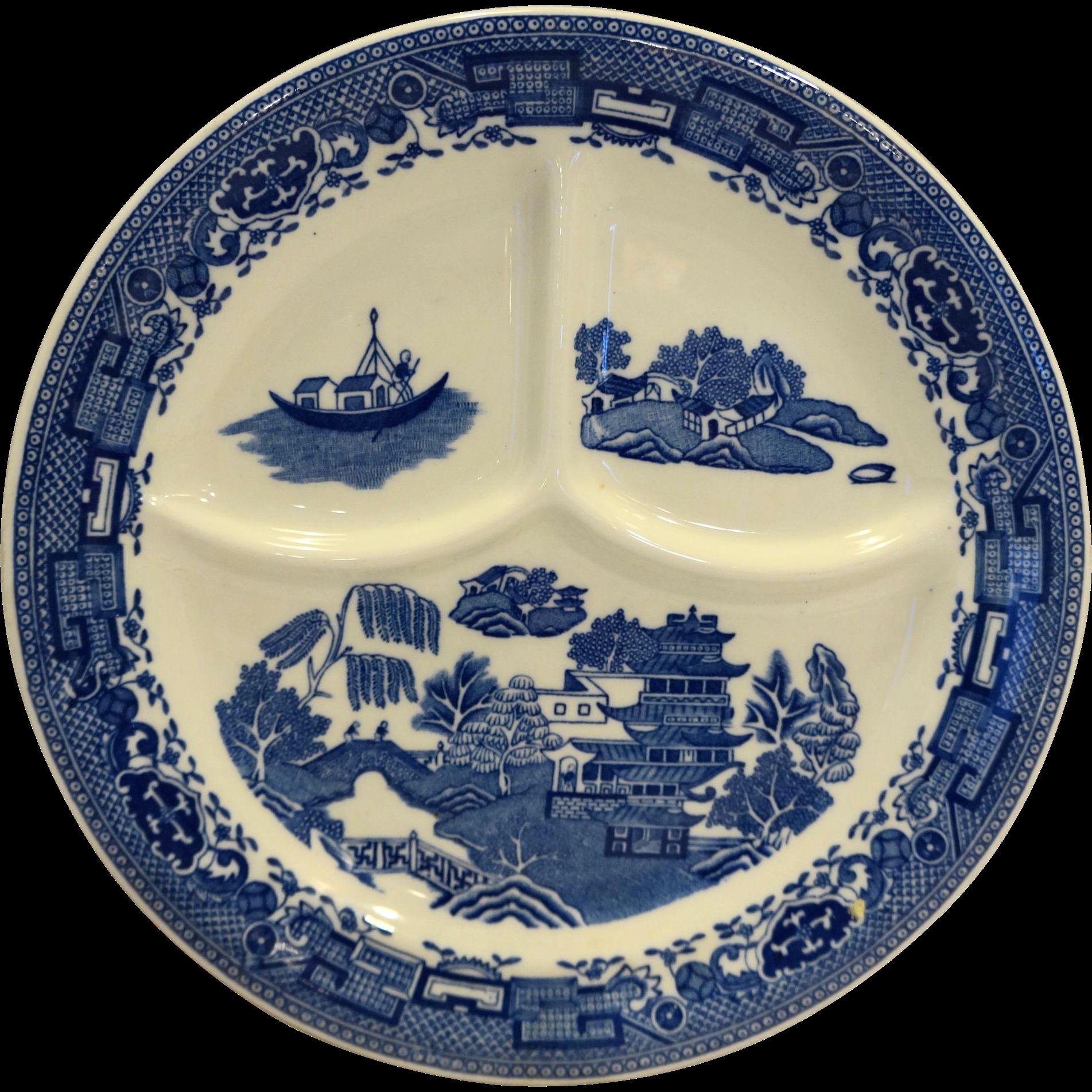 McNicol Blue Wilow Grill Plate Restaurant Ware