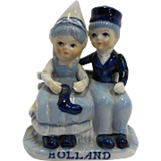 Delft Blue Dutch Boy Girl Figurine Holland Souvenir
