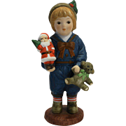Georgi H3801 Christmas Giordano Figurine Hand Painted Porcelain