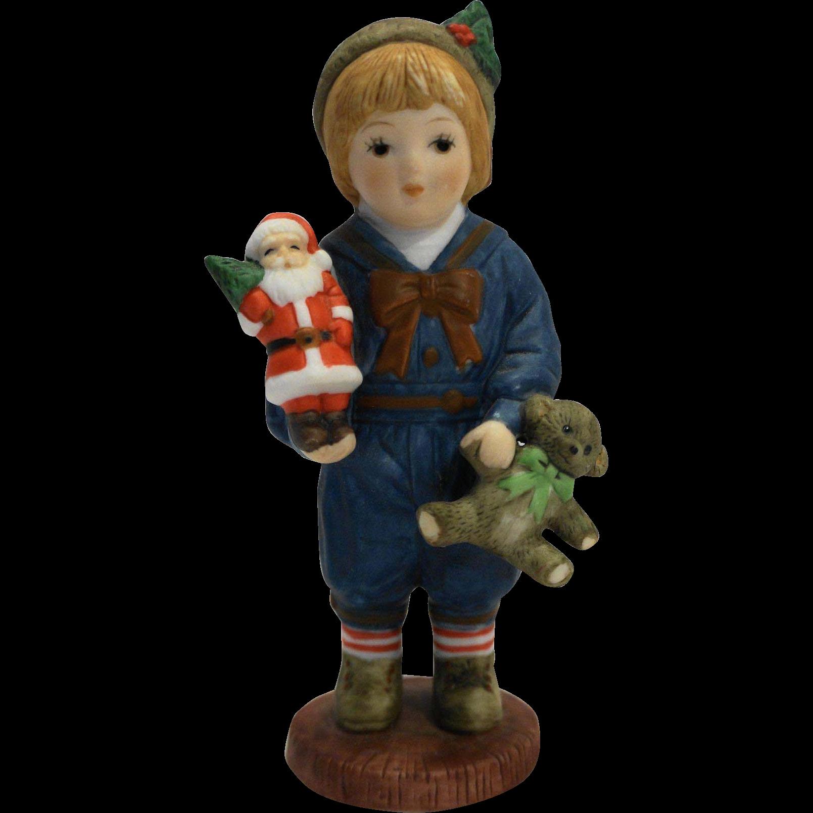 Georgi H3801 Christmas Giordano Figurine Hand Painted Porcelain