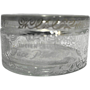Lucien LeLong Face Powder Clear Glass Jar 1940s Vintage