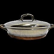 Revere Ware Copper Clad Casserole Au Gratin Pan 1801 Process Patent Mark