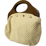 Bermuda Bag Purse Wooden Handle 5 Covers Plaids Solids