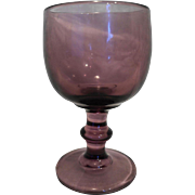 Hoffman House Purple Water Goblet Stem Imperial Glass
