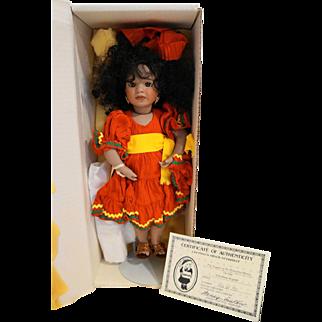 Lawton Doll Legend of the Poinsettia Mexico NIB MIB Ltd Ed 742/750 1992
