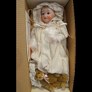 Lawton Doll Baby Victoria and Teddy NIB MIB Ltd Ed 308/500 1989 Playthings Past
