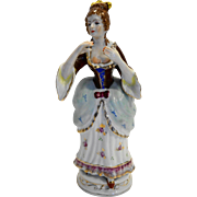 Orion China Occupied Japan Colonial Lady Porcelain Hand Painted Figurine 10 IN