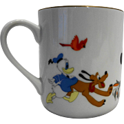Disney Characters Porcelain Mug Made in Japan Mickey Goofy Donald Dumbo