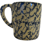 Robinson Ransbottom Blue Sponge Spongeware Heavy Coffee Mug