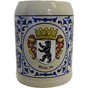 Berlin .5L Salt Glazed Beer Stein West Germany