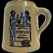 Saddleback Oysters Brown Stein Mug Western Stoneware Monmouth Pottery