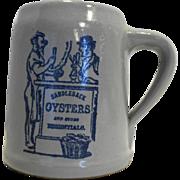 Saddleback Oysters Gray Stein Mug Western Stoneware Monmouth Pottery