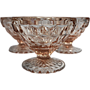 Jeannette Pink Windsor Sherbets Depression Glass Set of 3